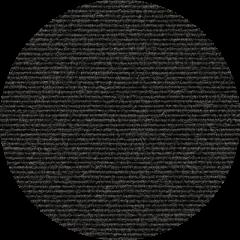 TRETFORD INTERLAND runder Teppich Anthrazit 534 (Ø 250 cm)